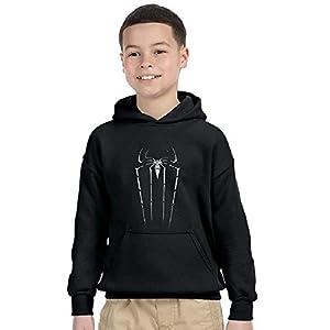 Avaatar Navy Blue Hooded Superhero Sweatshirt for Kids (Spiderman Black, 9-10 Years)