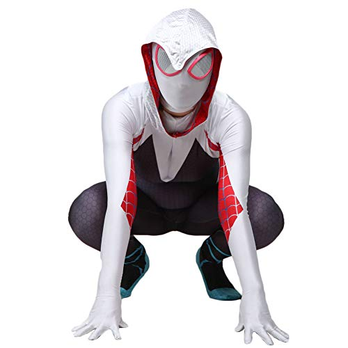 Da Mai Toddler Kids Spider Verse Miles Morales Gwen Jumpsuit Bodysuit Black Spider Tights Zentai Costume -