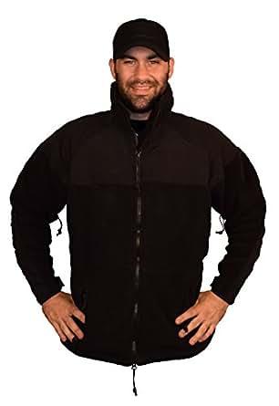Military Black PolarTec 300 Fleece Jacket at Amazon Men's