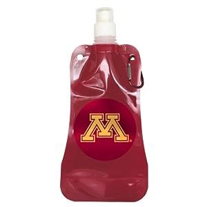 NCAA Minnesota Golden Gophers Foldable Water Bottle, 16-ounce, 2-Pack