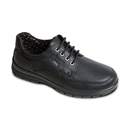 Padders Men's Waterproof Leather Shoe'Terrain' |Made in Britain | Dual Fit System | Extra Wide G-H Fit| 35mm Heel Height | Free Footcare UK Shoe Horn