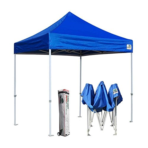 Eurmax 8x8 Feet Ez Pop up Canopy, Outdoor Canopies Instant Party Tent, Commercial Gazebo Bonus Roller Bag ()