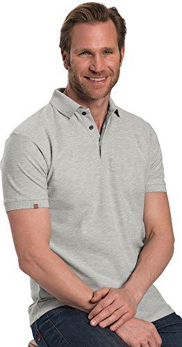 ColorU - unisex Poloshirt grau / Oberteil für Damen und Herren, kurzärmeliges T-Shirt mit Stehkragen und Knopfleiste (Größe S - 4XL)