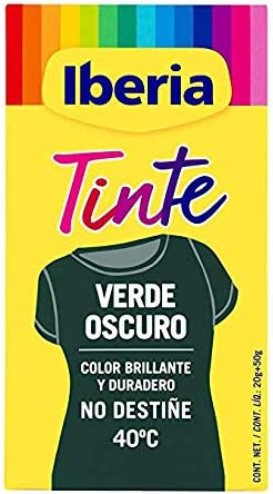 IBERIA TINTE TEXTIL VERDE OSCURO 70 gr: Amazon.es: Belleza