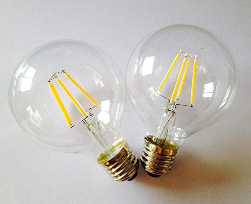 OK Lighting Large Globe Shape Dimmable Vintage Edison LED Light Filament Bulb G30/G95 6W Grande Forma de Globo Regulable Bombilla de Filamente E26 Base Warm ...