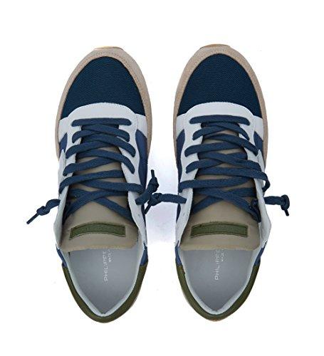 Philippe Model Sneaker Tropez Mondial Beige e Blu Blu