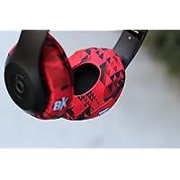 Beat Kicks Washable Headphone Covers - Tribal Red