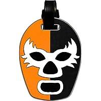 By Mexico Identificador de Maletas modelo Máscara de Luchador Naranja-Negro