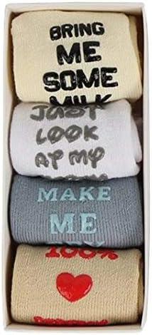 Cotton baby socks 4 pair box