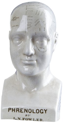 Indaba 0125-1045 Fowler's Phrenology Head Statue, 6-Inch by 4.5-Inch by 10-Inch
