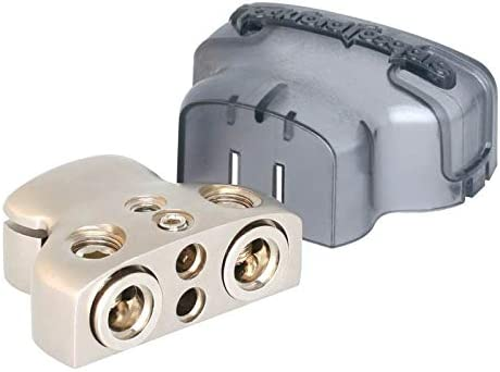 WINOMO Positive Negative Terminal With Two 1//0 Gauge and Two 8 Gauge Outlet for Car Battery