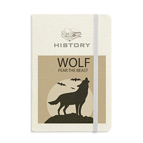 Wolf Ghost Fear Halloween Pumpkin History Notebook Classic Journal Diary A5 ()