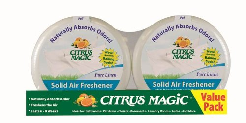 Citrus Magic 2-Pack Solid Air Freshener, 8-Ounce, - Linen Pure