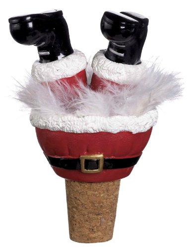 - Ganz Christmas Wiggle Legs Wine Bottle Toppers - Santa Boots
