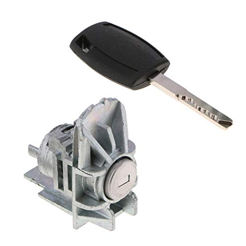 Baosity Car Parts Left Door Lock Cylinder Barrel with Key Repair for Ford Focus 2006-2010