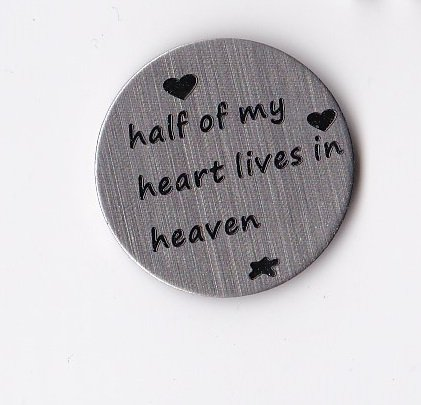 Half of my Heart lives in Heaven Floating Charm Locket Plate
