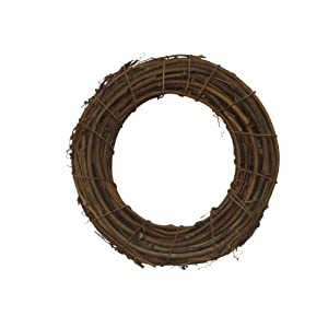 Shine Company 6602 Grapevine Wreath, 15.5-Inch, Brown, 2 Pack 101