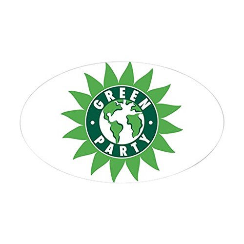 CafePress - Green Party Logo (Sunflower/G Oval Sticker - Oval Bumper Sticker, Euro Oval Car - A Green With G Logo