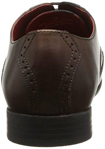 Base London Governor Braun Leder Herren Formal Oxford Brogue Schuhe