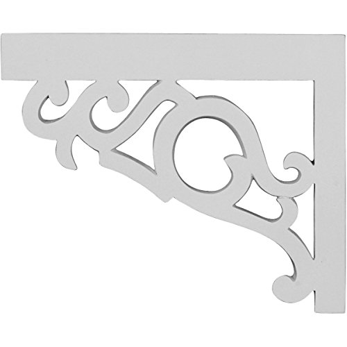 Ekena Millwork SB09X07VI-L 8 3/4 inch W x 7 1/8 inch H x 3/4 inch D Victorian Stair Brackets, Left,,, White
