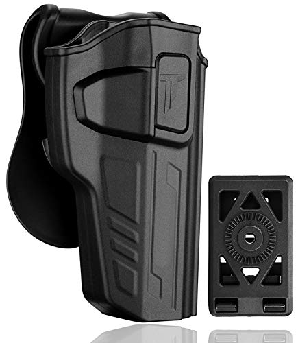 Beretta 92 Holster: Also Fit Beretta 92FS GSG92 / Girsan Regard MC/Taurus PT92 - NO Laser, Sight and Rail - Polymer OWB Paddle Holster - Free Belt Attachment Includ - Right Handed