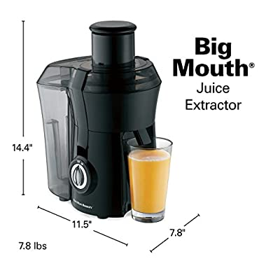 Hamilton Beach 67601A Big Mouth Juice Extractor, Black 13