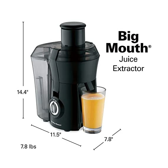 Hamilton Beach 67601A Big Mouth Juice Extractor, Black 6