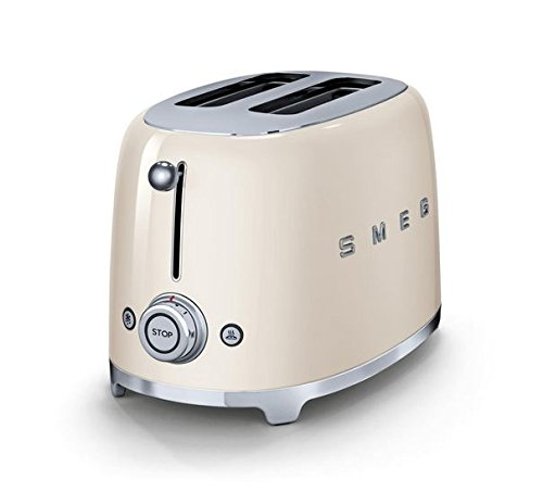 smeg tsf01crus 50 s retro style aesthetic 2 slice toaster cream retro appliances. Black Bedroom Furniture Sets. Home Design Ideas