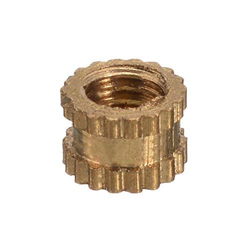 MICHAELA BLAKE 100Pcs M3 Gewinde Rund Metallr/ändel Gewindeeinsatz Muttern 3 mm H/öhe 4,2 mm Durchmesser Messing Ton dauerhaft Wohnaccessoire