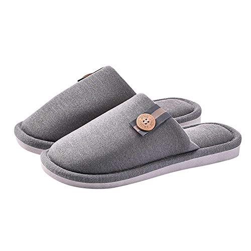 Indoor Men Luobote House Women Shoes Foam 4 Unisex Home Slides Grey Slippers Cozy Warm Memory 51xpa1n
