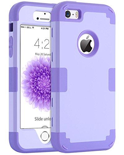 iPhone 5S Case iPhone SE iPhone 5 Case BENTOBEN Shockproof Protective Case for iPhone SE 5S 5 Purple