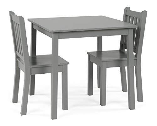 Tot Tutors CL329 Kids Wood Table & 2 Chairs Set 23'' Tall, Grey by Tot Tutors