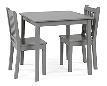Astonishing Tot Tutors Kids Wood Table 2 Chairs Set 23 Tall Grey Short Links Chair Design For Home Short Linksinfo