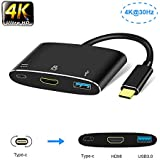 USB C hub, if-link Type c to HDMI Multiport Adapter Converter w/USB 3.0 Port,Type-C PD Fast Charging Port Compatible Nintendo Switch/MacBook/Samsung S8/S9/Note8,Lenovo Yoga/Dell XPS (Aluminum)