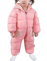 Aivtalk Unisex Baby Hooded Snowsuit Winter Warm Cotton Puffer Outerwear Clothes