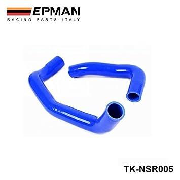 EPMAN-turbo intercooler de silicona del manguito del radiador Kit para Skyline R33 R34 GTS GTS GTT-T RB25DET 94-01 (2pcs) TK-NSR005: Amazon.es: Coche y moto