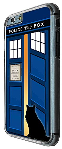 453 - Doctor Who Tardis Call Box Cat Open Door Design iphone 6 6S 4.7'' Coque Fashion Trend Case Coque Protection Cover plastique et métal