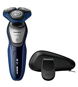 Philips AquaTouch S5600/12 - Afeitadora eléctrica, uso en húmedo y seco, 50 min de uso/1 h carga, con funda, color azul
