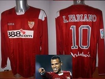 Camiseta de fútbol Joma del Sevilla del brasileño Luis Fabiano talla adulto XL: Amazon.es: Deportes y aire libre