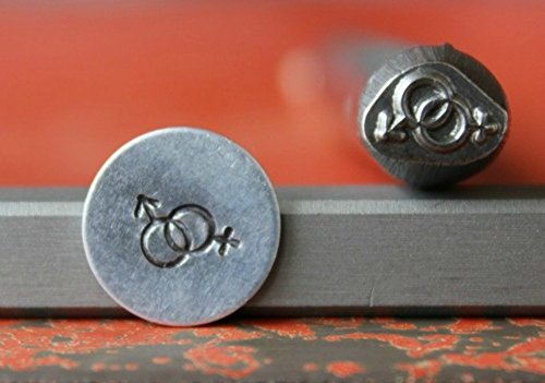 SUPPLY GUY 7mm Single Metal Punch Design Stamp: Symbols & Signs, Made in USA (Not a Set) (MALE/FEMALE SYMBOL SG375-59)