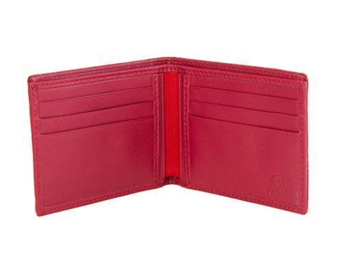 Punto Monocolor usa 40 Seda Piel Cartera Y De Rojo Colori FqZaw7