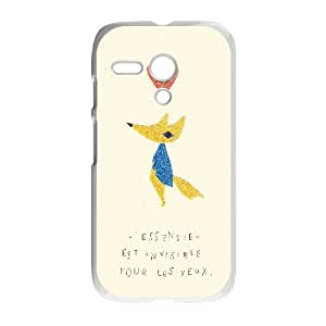 Customize Cell Phone Case Motorola G Case Cover White Cartoon The Little Prince 12QW4687954