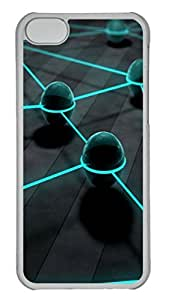 Abstract ID32 PC Case Cover for iPhone 5C Transparent