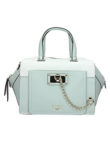 Borsa Bauletto Donna Guess Mod. FORGET ME NOT PAXTON SATCHEL BAG VG493406 Col. Ghiaccio.