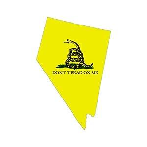 Amazon Com Don T Tread On Me Nevada State Shaped Gadsden