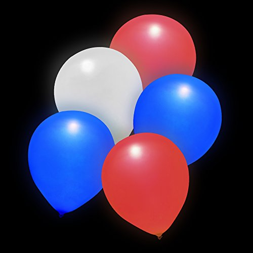 Premium LED Light-Up Balloons Party Favors (Patriotic)(20Pack)]()