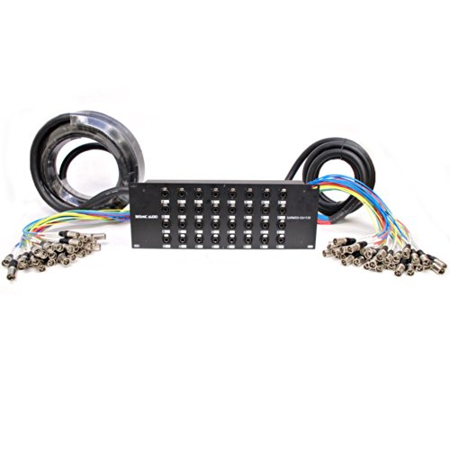 Seismic Audio - SARMSS-32x1530 - 32 Channel XLR TRS Combo Splitter Snake Cable - 15' and 30' XLR trunks by Seismic Audio