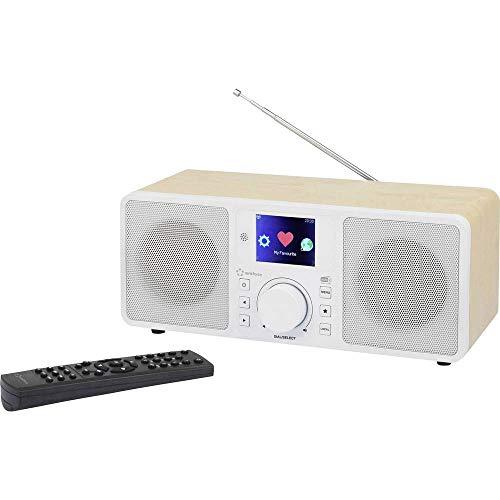 Renkforce RF-IRDAB-Retro1 radio Personal Analog & Digital White, Wood – Renkforce RF-IRDAB-Retro1, Personal, Analog…