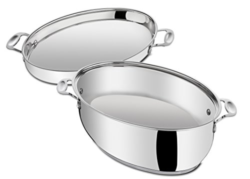 Tefal Jamie Oliver Professional Series By - 8.4L Oval Roasting Pan With Lid, Stainless Steel