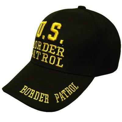 US BORDER PATROL LAW ENFORCEMENT BLACK VELCRO HAT CAP - Patrol Watch Cap